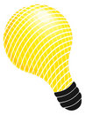 Illustrated light bulb Royalty Free Stock Image