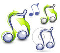 Illustrated music notes Royalty Free Stock Images