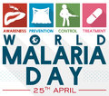 Illustrated Precepts to Commemorate World Malaria Day in Flat Style, Vector Illustration
