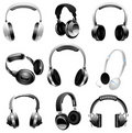 Illustrated set of headphones Stock Image