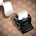 Illustrated typewriting machine. Royalty Free Stock Images