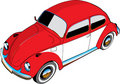 Illustrated VW beetle car Royalty Free Stock Photography
