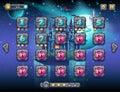 Illustratie fabelachtige ruimte met vrolijke planeten met de niveaus van het voorbeeldscherm de spelinterface met een Stock Afbeeldingen