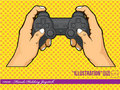 Illustration #0010 - Hands Holding Joystick Royalty Free Stock Photo