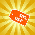 Illustration of 50 % discount tag Stock Image