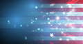 Illustration of abstract American Flag for Independence Day. fla