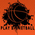 Illustration abstract background of basketball as a popular sport Stock Image