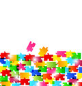 Abstract background made from colorful puzzle piec