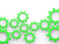 Illustration of abstract cogwheels Royalty Free Stock Photography
