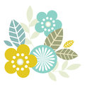 Illustration abstract floral background pastel colors white Stock Photography