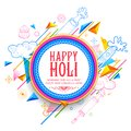 Abstract Happy Holi Background for Festival of Colors celebration greetings