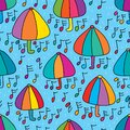 Umbrella protect just like dream seamless pattern Royalty Free Stock Photo