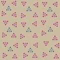 Illustration of abstract seamless gray background and colored circles in triangles for cards or decorations