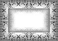 Illustration abstraite de l ornamental frame Images libres de droits