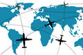 Illustration of airline route Royalty Free Stock Images