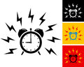 Illustration alarm clock ringing Stock Photos