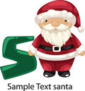 Illustration alphabet letter s-santa Stock Photos