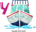 Illustration alphabet letter y-yacht Royalty Free Stock Photo