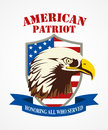 American Patriot Coat of Arms Royalty Free Stock Photo