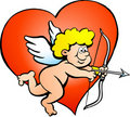 Illustration of an Amor Angel Boy Stock Photography