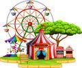 Amusement park scene at daytime Royalty Free Stock Photo