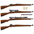 Illustration of antique american rifle Royalty Free Stock Images
