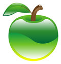 Illustration of apple fruit icon clipart an green Royalty Free Stock Photos