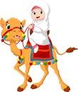 Illustration Of Arab Girl Ridi...
