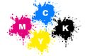 Illustration art of a cmyk printing colour with isolated background Royalty Free Stock Photography