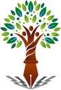Education family tree logo Royalty Free Stock Photo