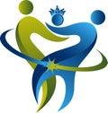 Family dental logo Royalty Free Stock Photo