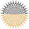 Sunbursts logo Royalty Free Stock Photo