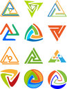 Illustration art triangle logos isolated background Royalty Free Stock Photography