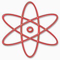 Illustration of an atom  Royalty Free Stock Photos