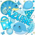 Illustration of azure color. Royalty Free Stock Photo
