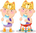 Illustration of baby boys Royalty Free Stock Images