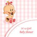 Illustration of baby girl background for your desing Stock Photography