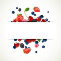 Illustration background fresh berries Stock Photo