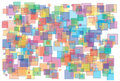 Illustration of background made of various color and size transparent squares Royalty Free Stock Images