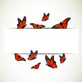 Illustration of a background with monarch butterflies Stock Image