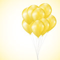 Illustration of background with yellow balloons Royalty Free Stock Photos