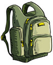 Illustration of a backpack Stock Photography