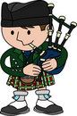 Illustration of bagpiper Royalty Free Stock Photos