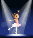 Illustration of a ballerina dancing Royalty Free Stock Photo