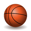 Illustration of basketball ball on a white background Stock Photography