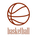 Illustration of a basketball outline isolated in white background Stock Photos