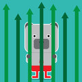 Illustration of bear symbol of stock market trend. Royalty Free Stock Photo