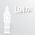 Illustration with big ben icon vector Royalty Free Stock Images