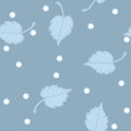 Illustration birch leaves hoarfrost seamless vector pattern Stock Image