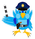 Illustration of the bird sparrow police Stock Image
